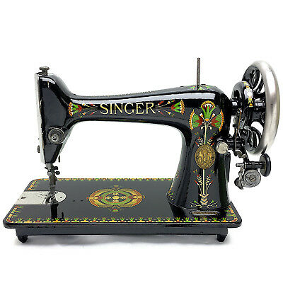 SINGER 66 66k Lotus Vintage Sewing Machine Fully Serviced & Restored by 3FTERS