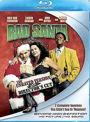 BAD SANTA (Blu-Ray Disc), UNRATED <<BRAND NEW!!>> (FREE SHIPPING!!)