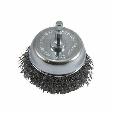 Forney 72731 Wire Cup Brush, Coarse Crimped with 1/4-Inch Hex Shank,