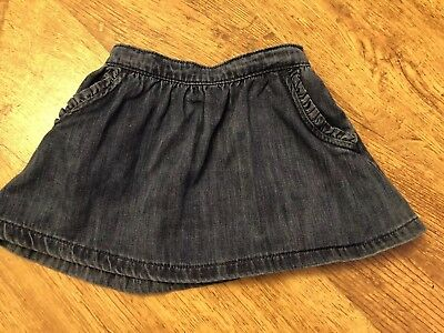 Next Denim Skirt 9-12 Months Immaculate