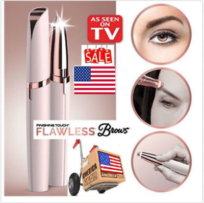 New LED Women Fashion Xmas Gift Trimmer Electric Hair Eyebrow Removal Brow Touch