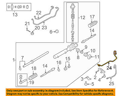 SUBARU OEM 05-09 Outback Steering Gear-Feed Line Right 34114AG04A