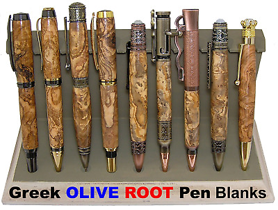 """Pen Blanks Olive Wood ***ROOT*** Exceptional MARBLE Grain Figured ~ 10 pcs x 5"""""""