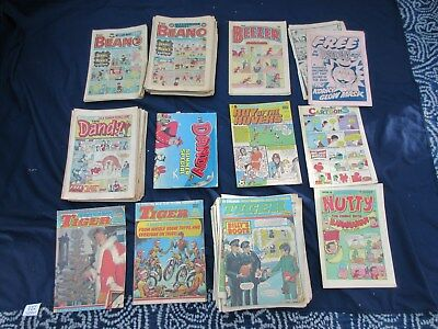 111 Copies Beano Dandy Tiger Beezer Nutty Roy of Rovers for 1982-84 VG Condition