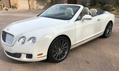2011 Bentley Continental GT GTC SPEED 2011 Bentley Continental GTC SPEED glacier white with a black top Linen leather