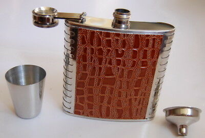 Stainless Steel Wine Liquor Flask Alcohol Bottle 6 OZ