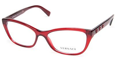 a3e1f5759725 NEW VERSACE 3249 388 RED TRANSPARENT EYEGLASSES GLASSES 54-16-140 B35 Italy