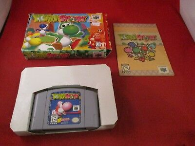 Yoshi's Story (Nintendo 64, 1998) N64 COMPLETE w/ Box manual game WORKS!