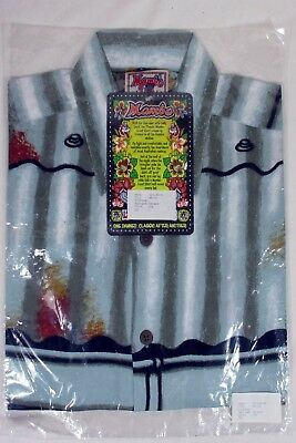 "Vintage Mambo Loud Shirt ""tin Roof"" Sealed In Original Pack Size L Reg Mombassa"