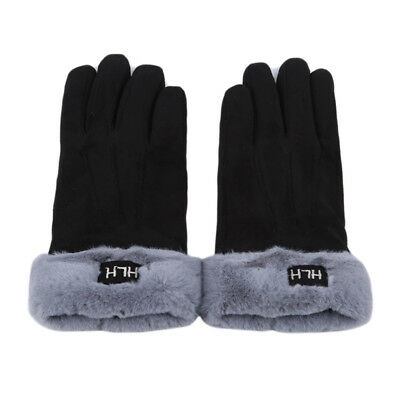 Cloth Solid Color Womens Thermal Lined Elegant Gloves Winter Warm Soft Glove BS