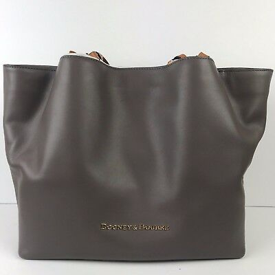 9a8ce2dcd NWT Dooney & Bourke City Flynn Leather Tote Shoulder Bag TAUPE Gift Present