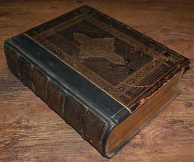 Christian: 19th Century Holy Bible with Devotional & Practical Commentary, ill.