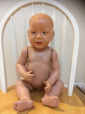 VINTAGE ANTIQUE COMPOSITION CELLULOID BABY DOLL 1920's 30's