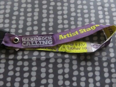 Adam Ant -   Rod Stewart etc Hard Rock Calling  2011 Official Artist wristband