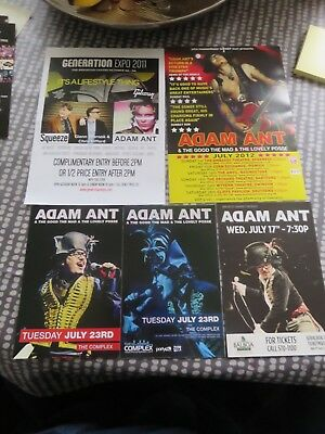 Adam Ant -  5 Different Flyers - Various 4 Different L@@K