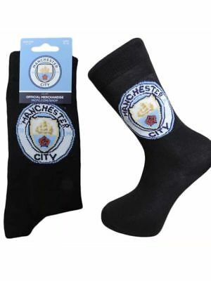 1 Pair  Mens MANCHESTER CITY Official Club Socks Size 6-11 Gift Fathers Day