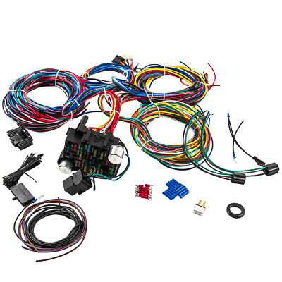 21 Circuit Wiring Harness for CHEVY Mopar FORD Hotrods UNIVERSAL Extra long Wire