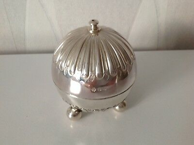 Victorian Antique English Sterling Silver String Box 1898