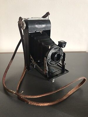 Ensign Pocket E-20 Camera Folding Bellows with Leather Strap.