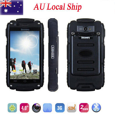 """5.0"""" Rugged 3G Android Smartphone Discovery V8 Dual Core Outdoor Mobile Phone AU"""
