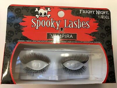 64ce249d571 1 pair False eye lashes Fright night by Ardel Spooky lashes Vampira black  red