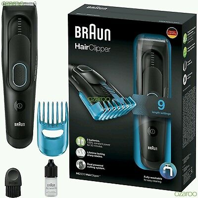 Braun HC5010 Mens Hair Clipper Cordless Rechargeable Electric Trimmer Shaver Kit