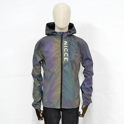 96ae9c721bb24 NICCE MENS VIND Reflective Jacket in IRIDESCENT -  156.20
