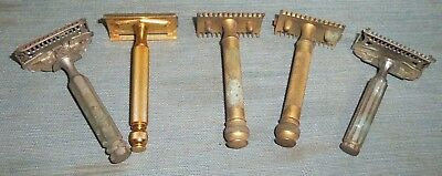 Vintage Gillette Gem Star Safety Razors Lot of 5 Parts Restore