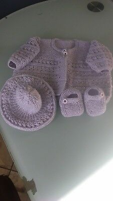 Brand New Hand Knitted Baby Set 3-6 months