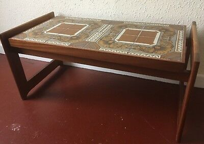 Retro Coffee Table Tiled Top Vintage Mid Century 60's 70's Quality Solid Wood
