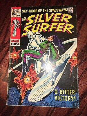 Vintage 1969 Marvel No. 11 The Silver Surfer Comic Book O' Bitter Victory