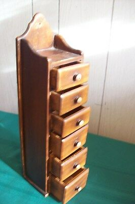 Vintage Small Size Wooden Knick Knack cabinet with 6 drawers
