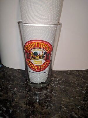 Lakefront Brewery Riverwest Stein Amber Pint Glass Milwaukee Wisconsin Beer