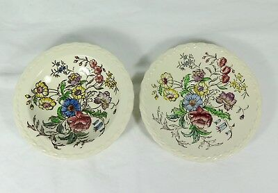 """VERNON KILNS """"May Flower"""" Pattern - One Saucer + One Small Sauce Dish"""