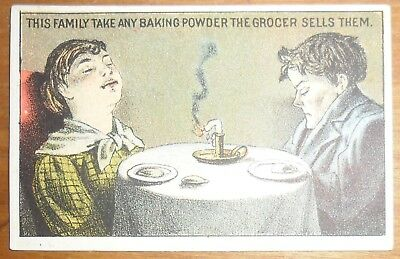 Victorian Trade Card Gantz Jones New York Sea Foam Baking Powder #1
