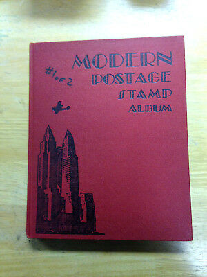Scott Modern Postage Stamp Album 1940 Edition 1050 Hinged Stamps Nice Condition|