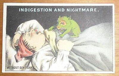 Victorian Trade Card Gantz Jones New York Sea Foam Baking Powder Indigestion