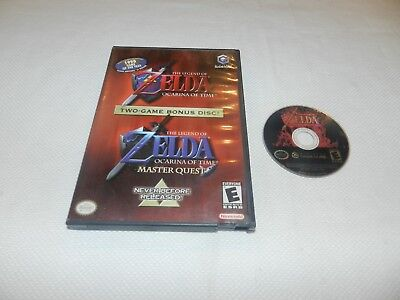 Legend of Zelda Ocarina of Time + Master Quest Nintendo Gamecube Game w/ Case