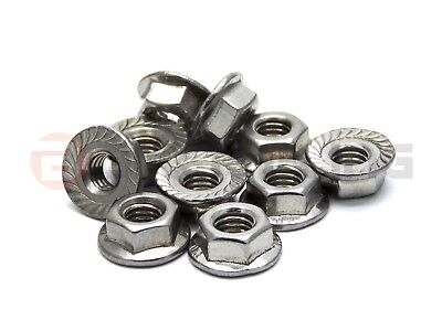10x Yamaha stainless steel flange nuts part number 95707-05500
