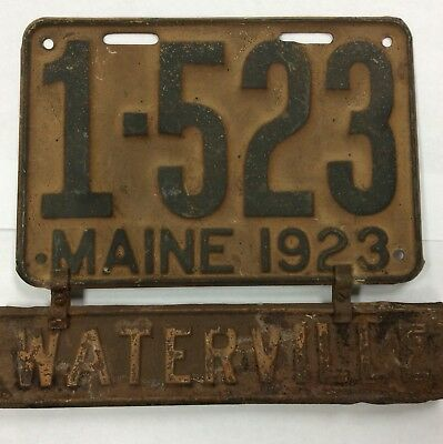 1923 Maine Waterville License Plate