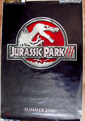 "Jurassic Park Iii 27"" X 40""  One Sheet Original Movie Poster Made In 2001"
