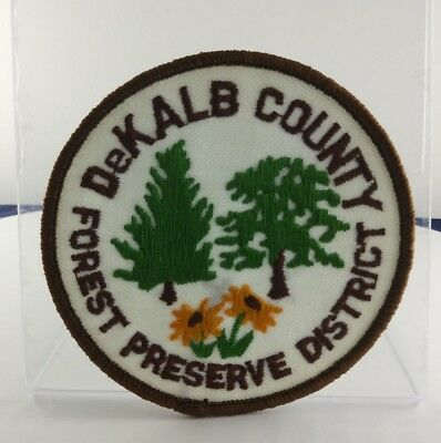 Used Dekalb Couty Forest Preserve District Pin Tree And Yellow Sunflower