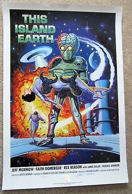 This Island Earth 1990 Commercial 1Sht Movie Poster Rld Signed Numbered Ex