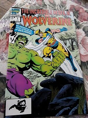 old comic book 1 oct hulk and wolverine marvel