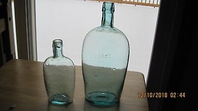 Embossed Quart And Half Pint Goodale Flasks From Rochester,ny
