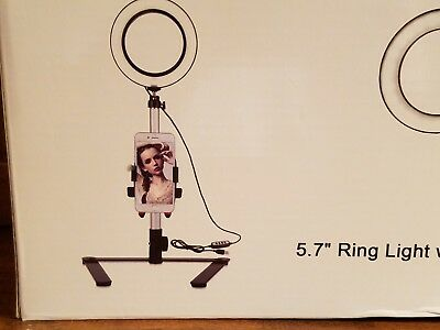 "B-Land 5.7"" Ring Light with Desktop Stand for Youtube Video and Makeup, Mini LED"