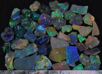 100 Cts Solid Gem Quality Lightning Ridge Rough And Rough Rubbed Opal Parcel 76