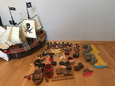 PLAYMOBIL Konvolut Piraten mit Piratenschiff (5135)