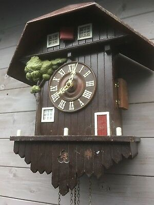 Vintage cuckoo clock for restoration G H S. project clock