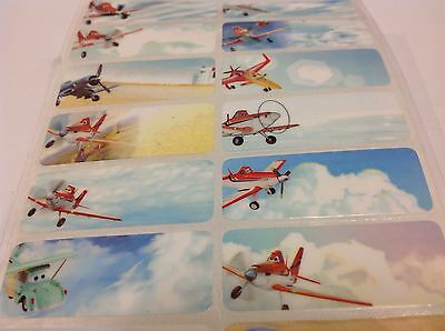 100 Planes Personalised Name Label Stickers + 100 Small Pencil Labels Free